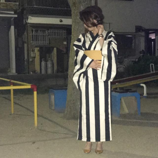 着物でお出かけブログ 夜を着物で徘徊する01